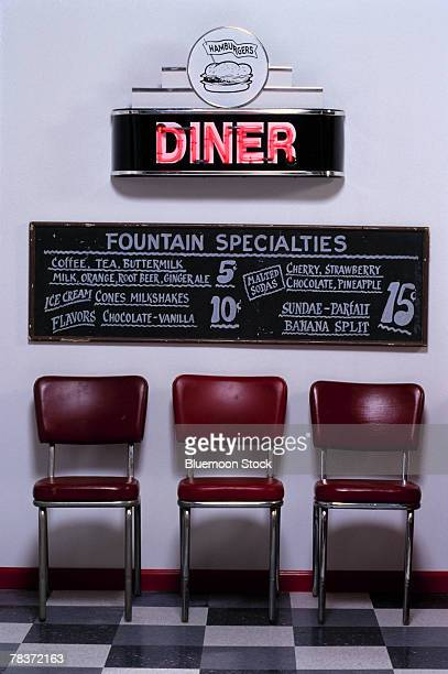 Interior of a diner