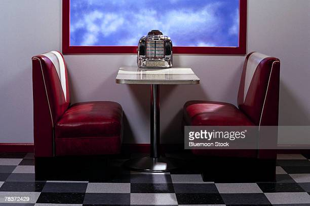 interior of a diner - diner stock pictures, royalty-free photos & images