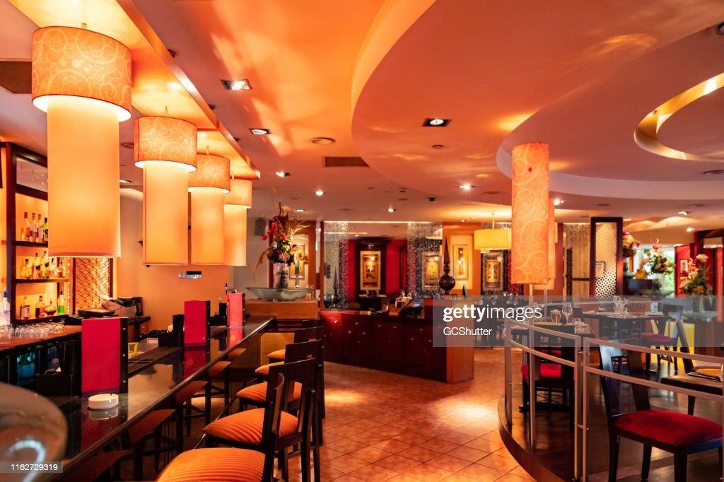 Interior Of A Fine Dining Indian Restaurant High Res Stock Photo Getty Images