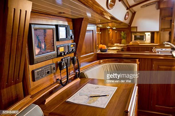 Interior of a Friendship 53 Sailboat