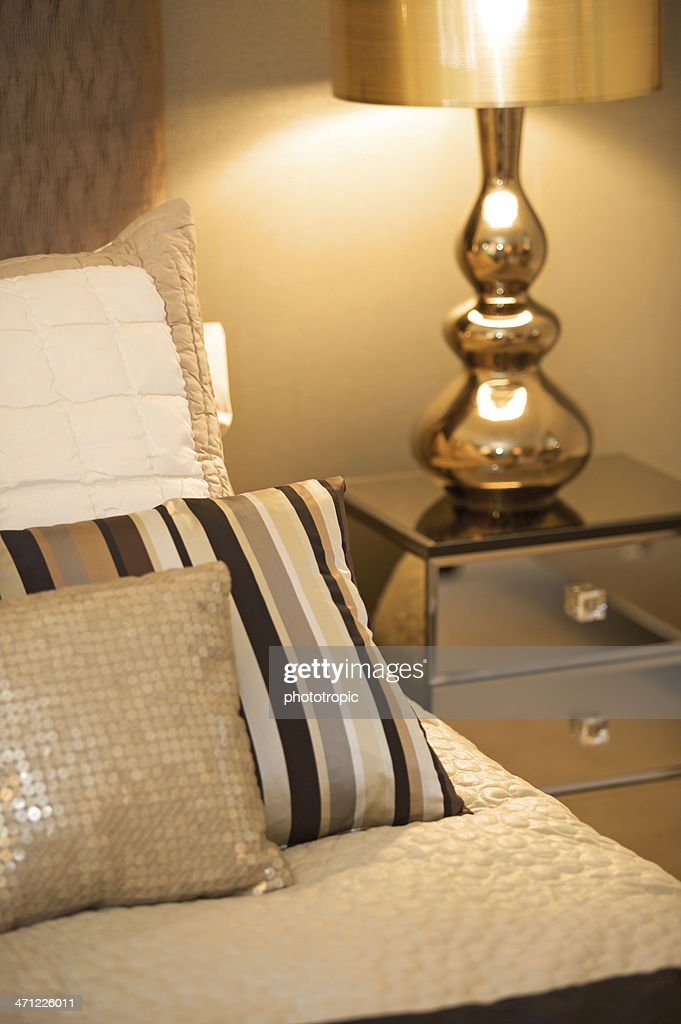 Hotel Room Photography: Interior Of A Hotel Room With A Furnished Bed And