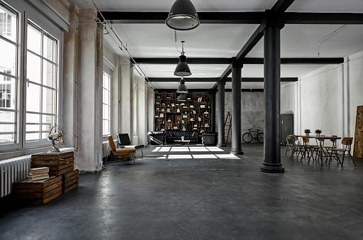 Interior of a loft flat - gettyimageskorea