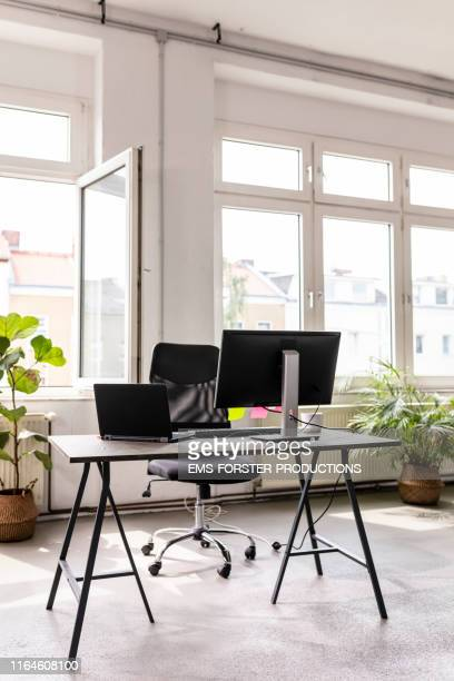 interior of a loft office - co working space - studio workplace stock pictures, royalty-free photos & images