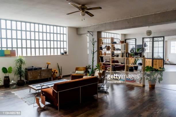 interior of a loft office - loft foto e immagini stock