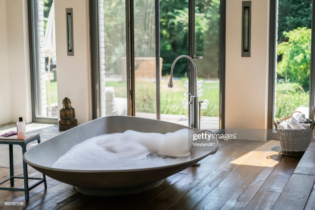 Interior Of A Luxurious Bath Room In A Country House : ストックフォト