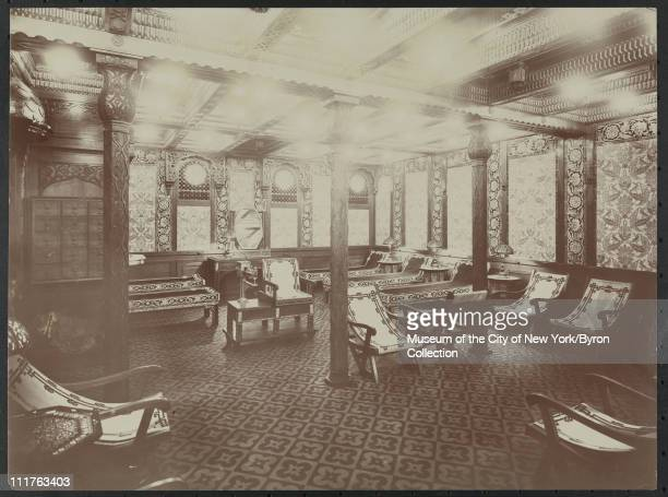 Interior of a massage salon at the Biltmore Hotel Madison Avenue and 43rd Street New York New York early 1910s