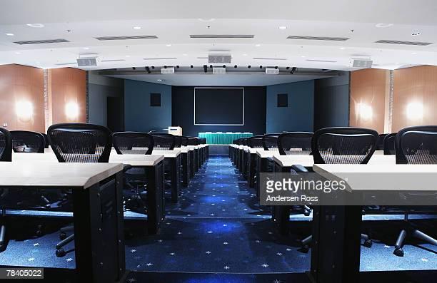 Interior of a media room
