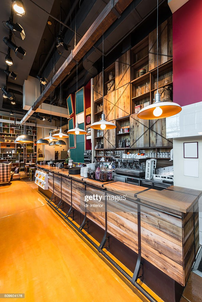 Interior Of A Modern Cafe Bar Stock Photo - Getty Images