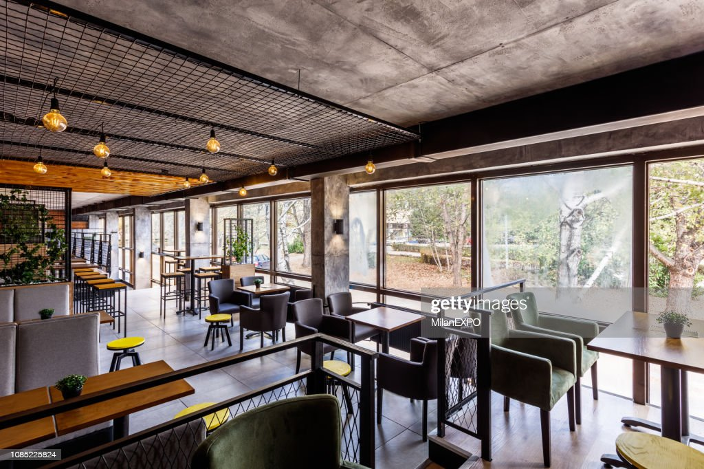 Interior Of A Modern Industrial Design Pub High Res Stock Photo Getty Images