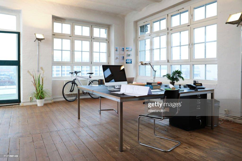 modern interior office stock. Interior Of A Modern Informal Office : Stock Photo R