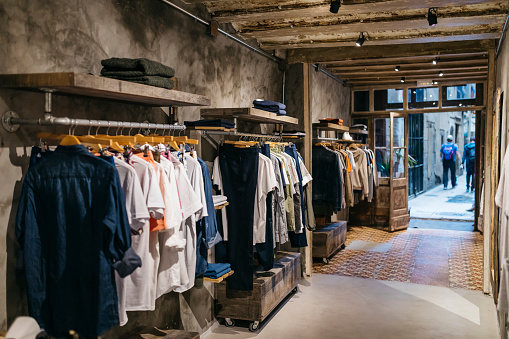 Interior of a modern menswear shop - gettyimageskorea