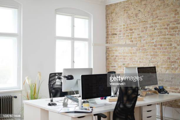interior of a modern office - empty office stock pictures, royalty-free photos & images