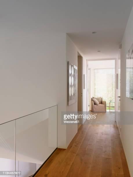 interior of a modern villa - korridor stock-fotos und bilder