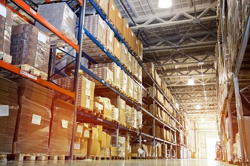 Interior of a modern warehouse 665483064
