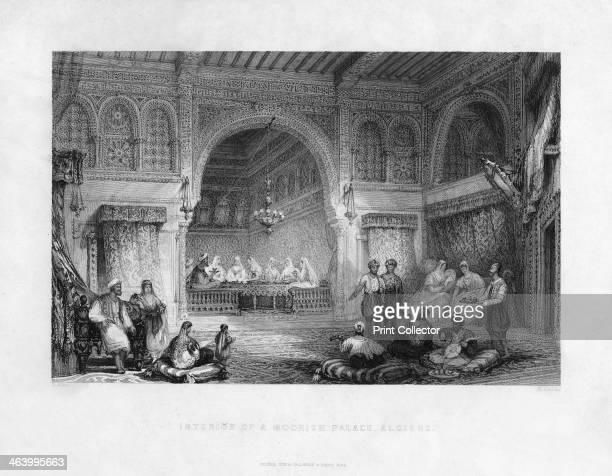'Interior of a Moorish Palace Algiers' Algeria 1839
