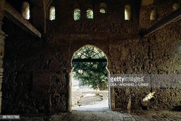 Interior of a mosque under renovation Bejaia Algeria