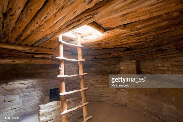 interior of a native american cliff dwelling - mesa verde national park stock pictures, royalty-free photos & images