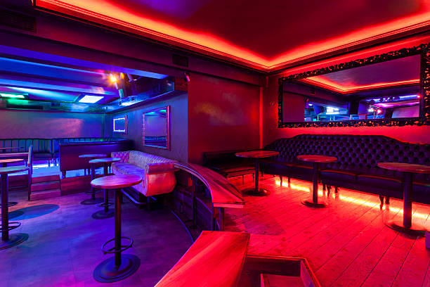 Free bar neon images pictures and royalty free stock photos interior of a nightclub with neon lights mozeypictures Gallery