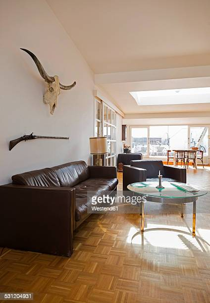 Interior of a penthouse flat