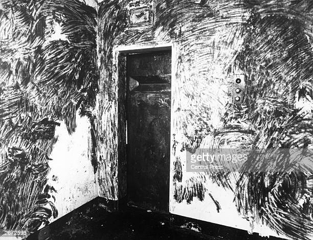 Interior of a prison cell in the Maze Prison, near Belfast. In protest against the British Government's refusal to grant them political status,...
