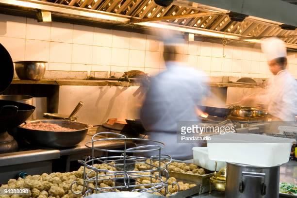 Interior of a restaurant kitchen