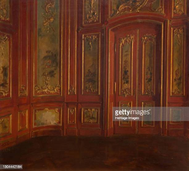Interior Of A Room With Rococo Panelling, 1896. Artist Alexander Friedrich Werner.