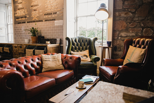 Interior of a Small Cafe 1067058436