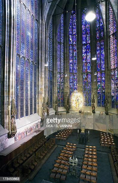 Interior of Aachen Cathedral RhinelandWestphalia Germany