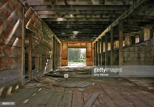 Interior of Abandoned Barn
