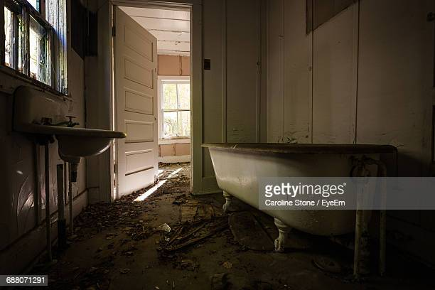 Interior Of Abandoned Bathroom At Home