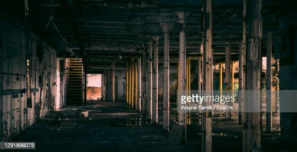 interior of abandoned building - abandoned stock pictures, royalty-free photos & images