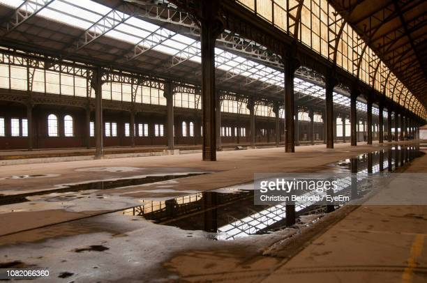 interior of abandoned railroad station - abandoned stock pictures, royalty-free photos & images