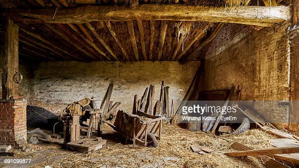 Interior Of Abandoned Shed