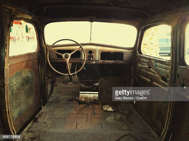 Interior Of Abandoned Truck