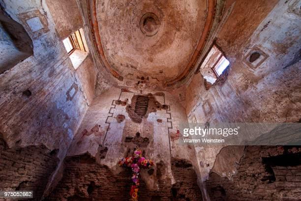 interior of abandoned tumacacori mission, arizona, usa - weinstein stock pictures, royalty-free photos & images