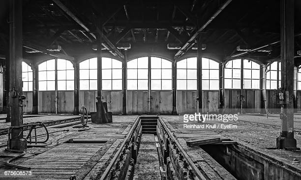 Interior Of Abandoned Warehouse