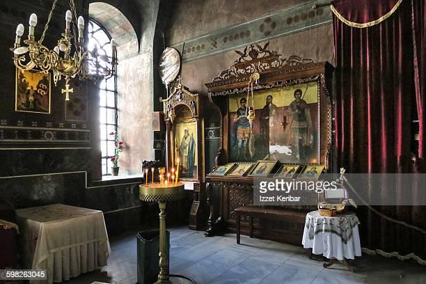 Interior of Agia Sophia Church Thessaloniki Greece