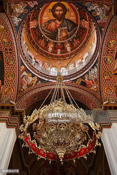 Interior of Agios Minas Cathedral in Heraklion, island of Crete, Greece, Mediterranean
