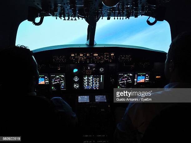 Interior Of Airplane Cockpit