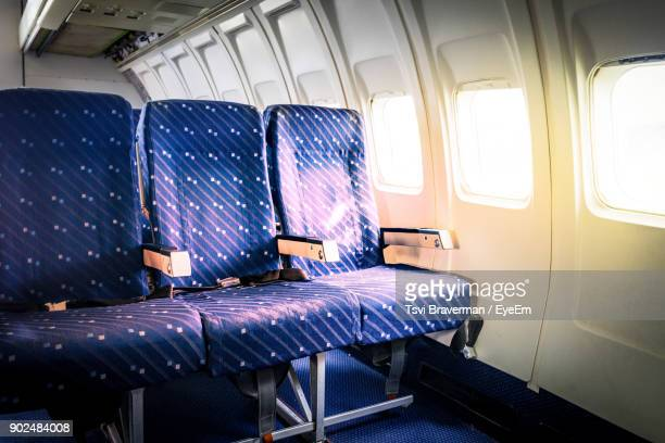 interior of airplane - seat stock pictures, royalty-free photos & images