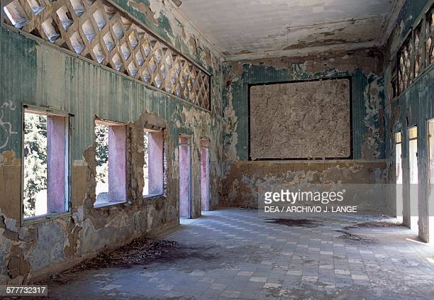 Interior of an abandoned building in the village of Eleousa built in 19351936 Rhodes island Greece