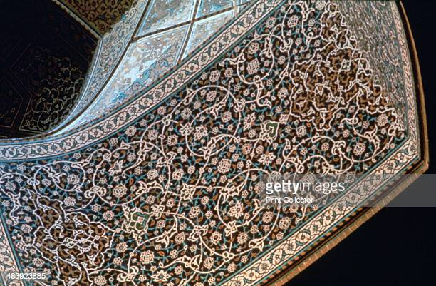 Interior of an arch, Mosque of Sheikh Lutfullah, Isfahan, Persia, c1615.