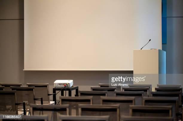 interior of an empty auditorium - 演壇 ストックフォトと画像