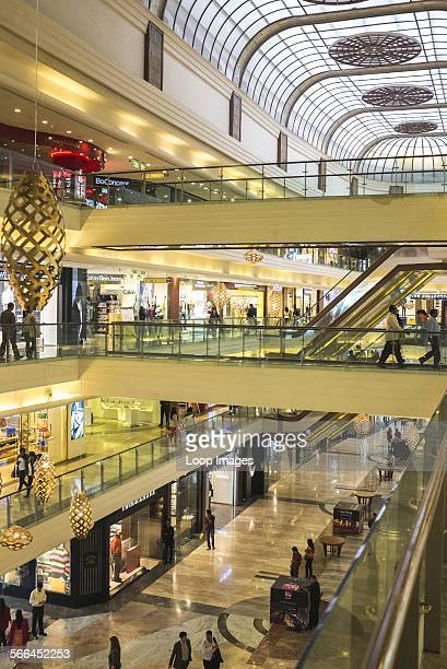 Interior of an upscale shopping mall