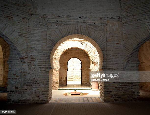 interior of ancient mosque - jerez de la frontera stock pictures, royalty-free photos & images