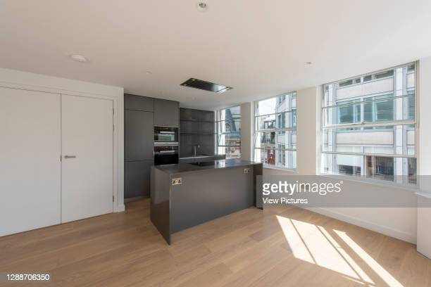 Interior of apartment of the residential block of the Economist Building. The Smithson, London, United Kingdom. Architect: Alison & Peter Smithson,...