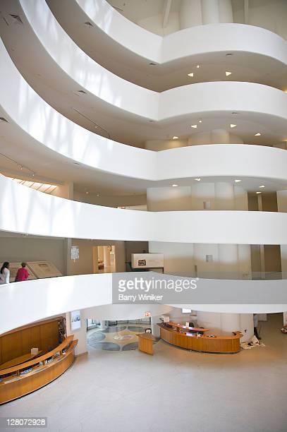Interior of atrium, Guggenheim Museum, Upper East Side, New York, NY, U.S.A.