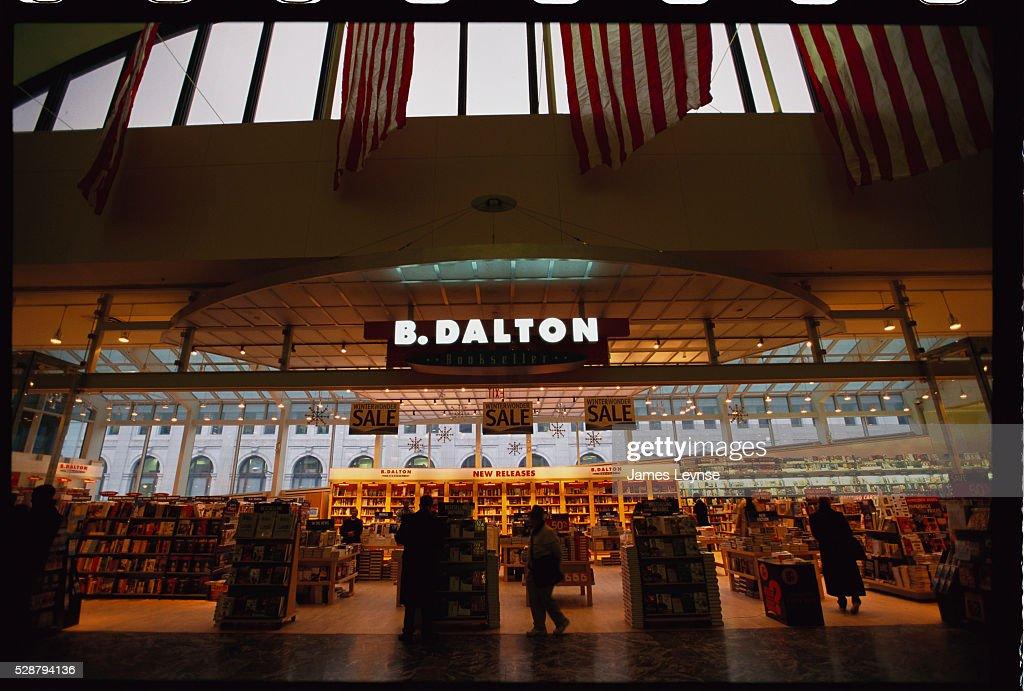 Interior of B. Dalton Bookstore : News Photo