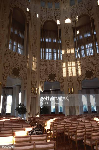 interior of bahais temple - baha'is stock pictures, royalty-free photos & images