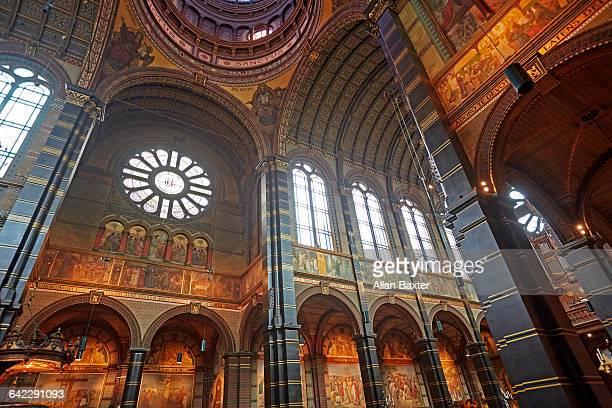 Interior of 'Basilica of St Nicolas' in Amsterdam